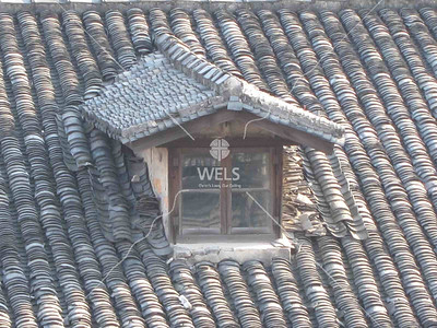 Teracotta roof dormer in Shauxing China by kstellick